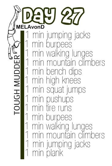 #toughmudder workout day 27