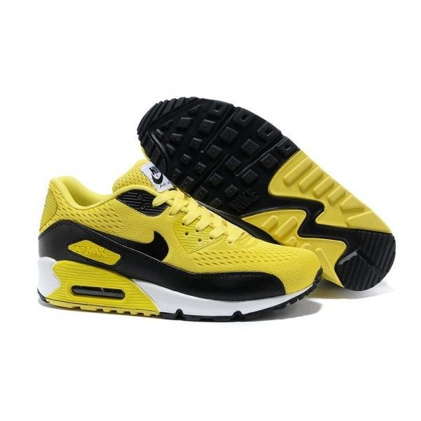 2013 Nike Store For Air Max 90 Premium EM Mens Trainers Yellow Black Free  Running Shoes