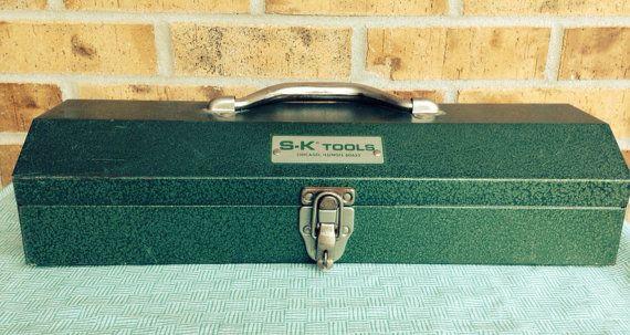 Fantastic Vintage SK Tool Box - Green on Etsy, $23.95