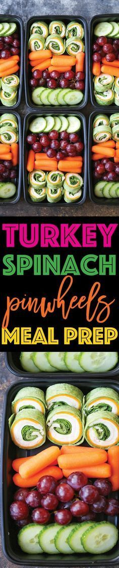 Turkey Spinach Pinwheels Meal Prep - Prep your lunches for the week with these turkey spinach and cheese pinwheels! No more overpriced snacks and lunches!!!