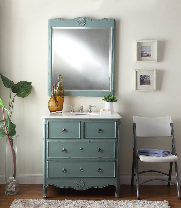 Images Photos  Benton Collection Distress Vantage Blue Daleville Bathroom Sink Vanity HF Y