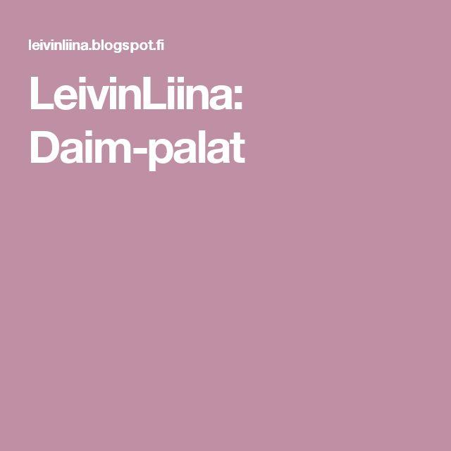 LeivinLiina: Daim-palat