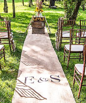 Personalized Burlap Aisle Runner with Equestrian Monogram #Country wedding ... Wedding ideas for brides & bridesmaids, grooms & groomsmen, parents & planners ... https://itunes.apple.com/us/app/the-gold-wedding-planner/id498112599?ls=1=8 … plus how to organise an entire wedding, without overspending ♥ The Gold Wedding Planner iPhone App ♥