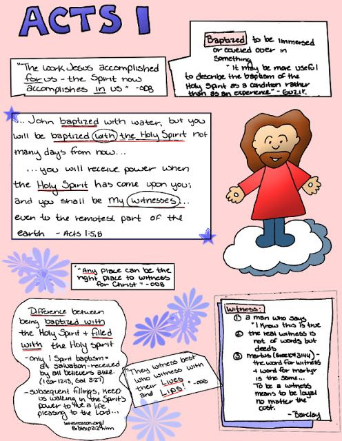 Doodle Through The Bible: Acts 1:5,8 My digital bible journaling notes page!  Free full color PDF download at the website.