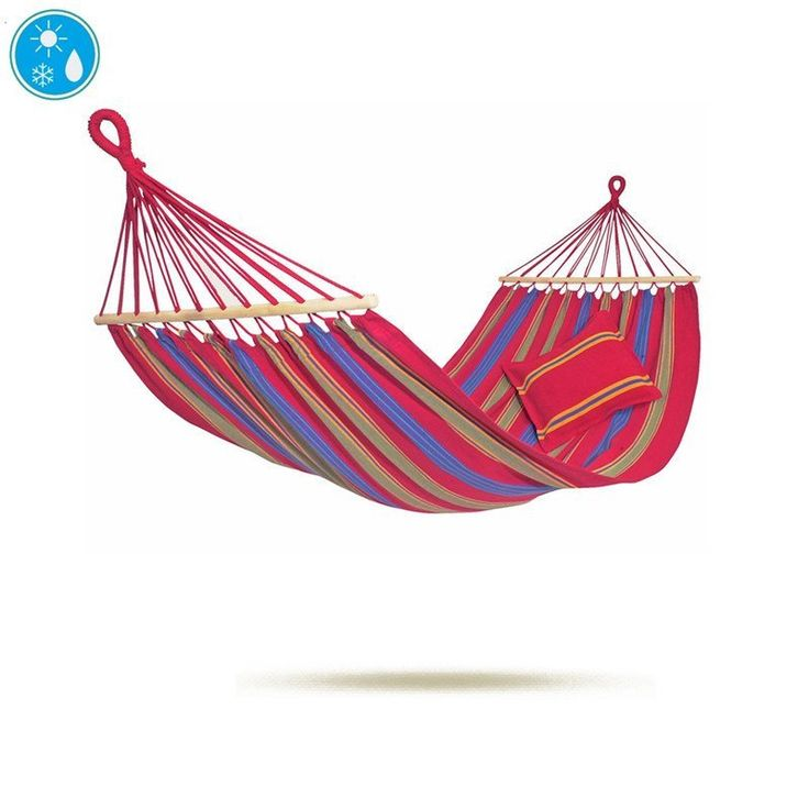Chic, strong and stylish, the Aruba Cayenne Hammock looks fabulous and is superbly comfortable. The Aruba Hammock is made from EllTex – a polycotton fabric which is designed to withstand all the elements and can be left outside in any weather.  Soft and comfortable, it is virtually tear-proof and will keep its colour year after year. The Aruba Cayenne Hammock is a lovely colourful addition to your garden furniture. Can be used strung from trees or is compatible with the Madera, Sumo, Apollo…