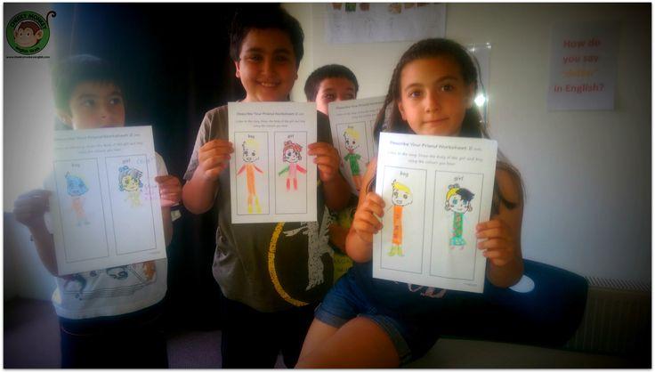 Describe your friend...#CME4K Sadece çocuklar (Okul Oncesi - Ilkokul - Ortaokul) için İngilizce dil kursu İzmir