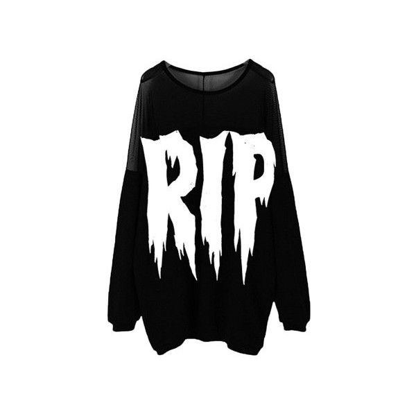 Nikki Lipstick Women's Rip Black Sweater ($50) ❤ liked on Polyvore featuring tops, sweaters, shirts, jackets, ripped shirts, black shirt, black sweater, distressed sweater and shirts & tops
