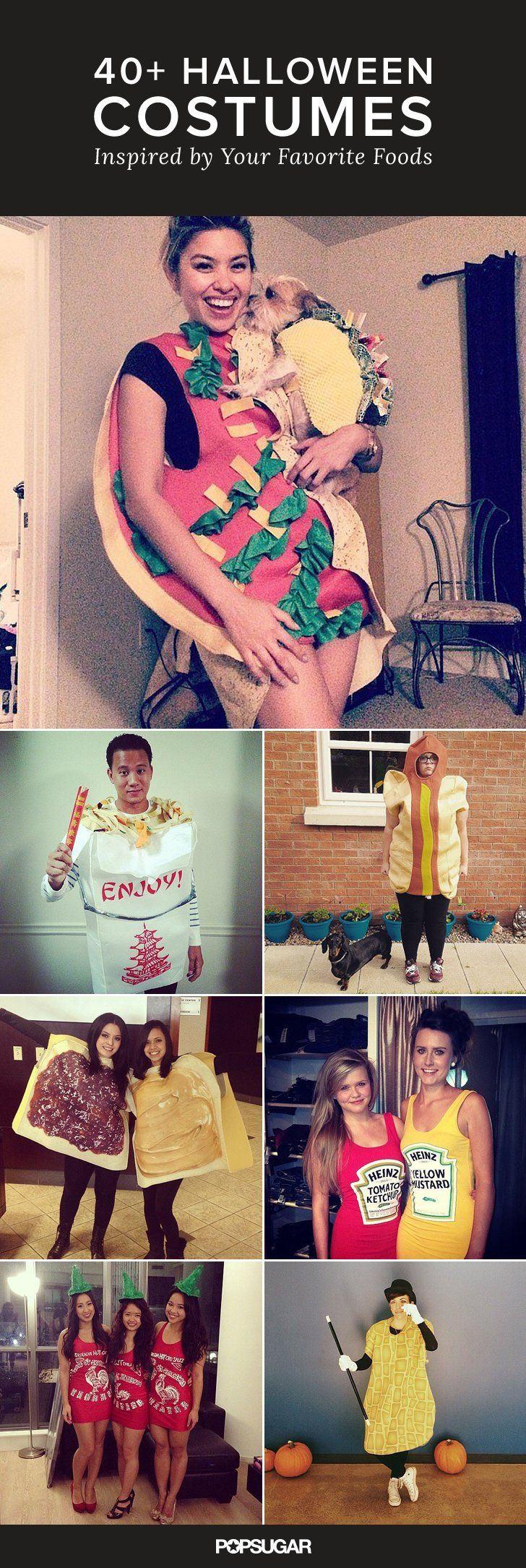 Foodies, these Halloween costumes were made for you! Check them out to get some outfit inspiration.