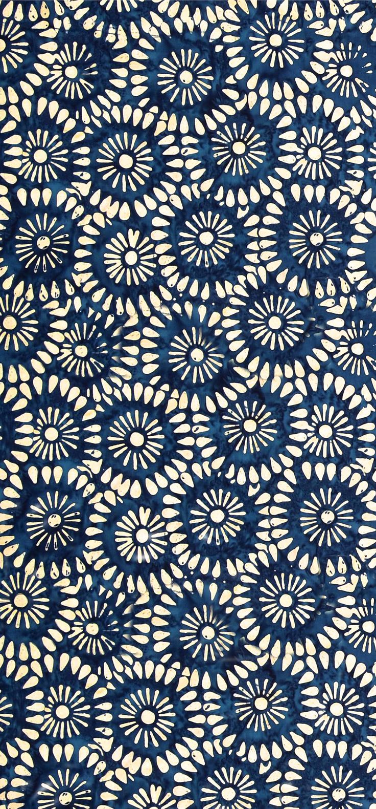 """Tonga Batik Kiss"".  Indonesian batiks from Timeless TreasuresBlue Flowers, Batik Pattern, Block Prints, Repeat Pattern, Art, Design, Flower Patterns, Textile, Floral Pattern"