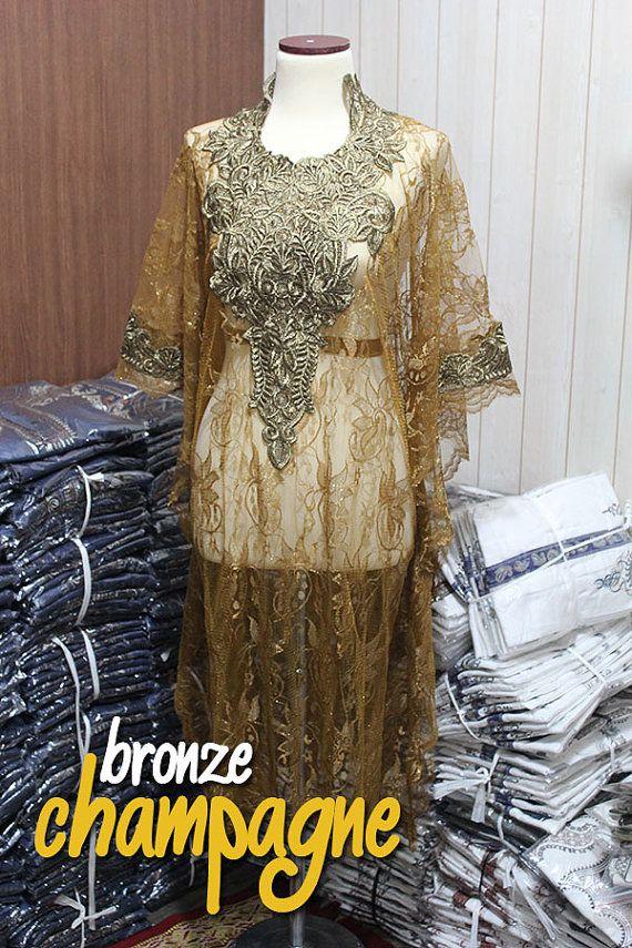 Moroccan  tunic kaftan Full Gold Embroidery Style by syahdika
