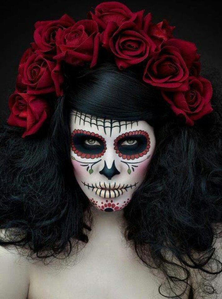 Amazing 1000 Images About Dia De Los Muertos On Pinterest Lace Sugar Short Hairstyles For Black Women Fulllsitofus