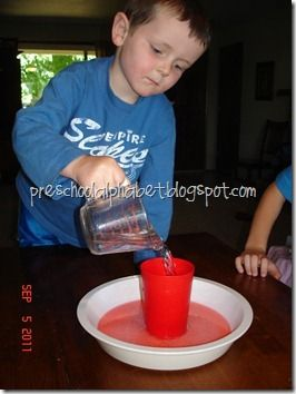 Classic Erupting Volcano   In a clean cup or jar, add a spoonful of red sprinkle sugar (for the red lava!)   Measure and add 1/4 cup baking soda.   Shake the sugar + baking soda together to mix well. Or just add a few drops of red food coloring.   Add about 1/4 cup vinegar and watch your volcano ERUPT!