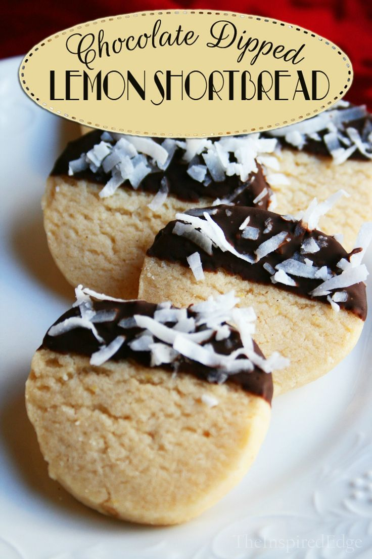 Love your cookies!!! Thats what they'll say when you feed them these gluten free chocolate dipped lemon shortbread cookies.
