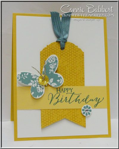 Butterfly Basics, Butterfly Thinlets, CAS, Stampin' Up!, #stampinup, by Connie Babbert, www.INKspiredtreasures.com for the Create with Connie and Mary Color Challenge.