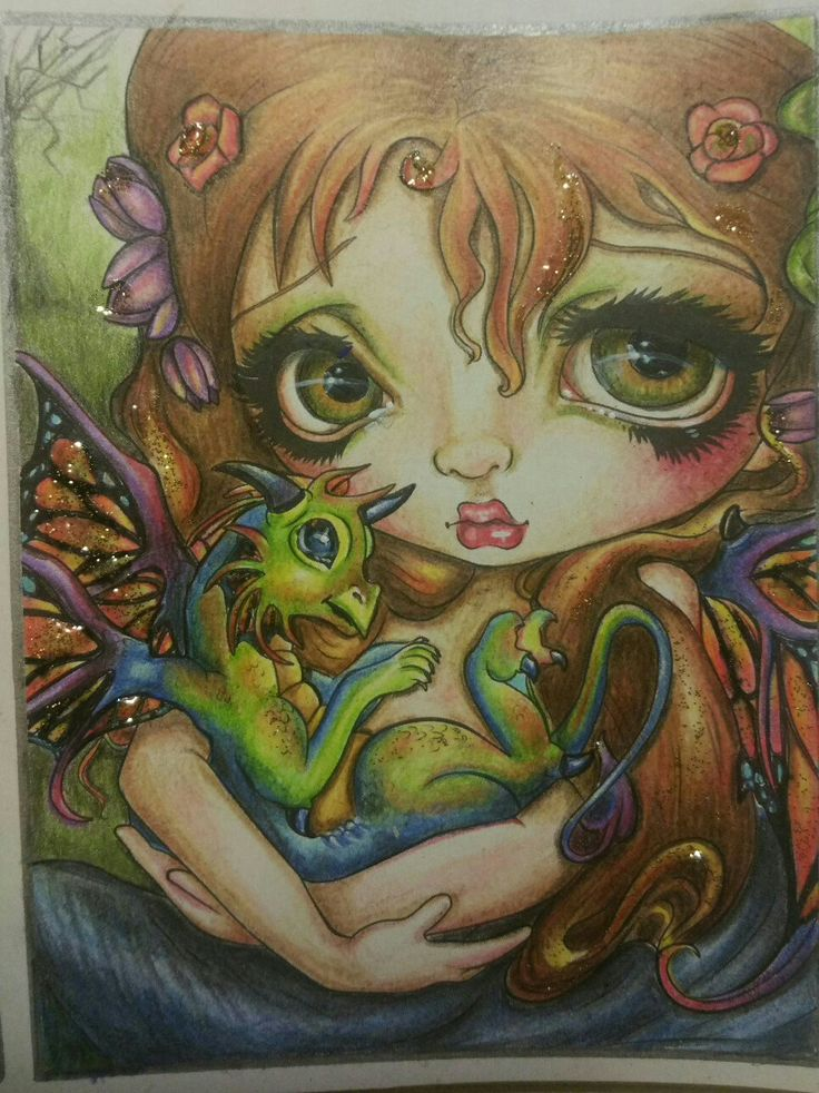 Colouring Book A Fantasy Art Adventure By Jasmine Becket Griffiths Title Darling Dragonling