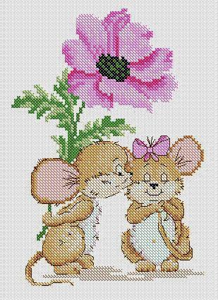 Влюблённая мышка-1 (309x425, 61Kb)