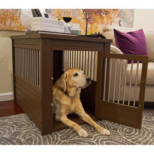 New Age Pet EcoFlex Habitat-n-Home InnPlace Pet Crate/Table - Russet - Dog Crates at Hayneedle