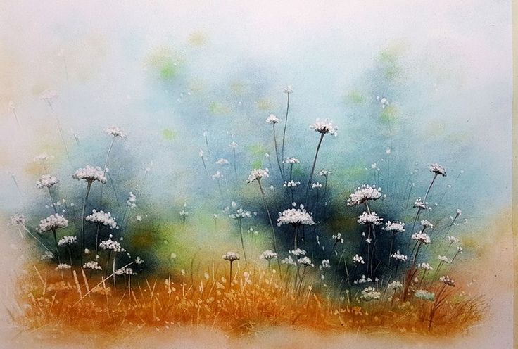 """""""Summer Whites"""", a water colour painting by a fine artist Bhanupratap Khare"""