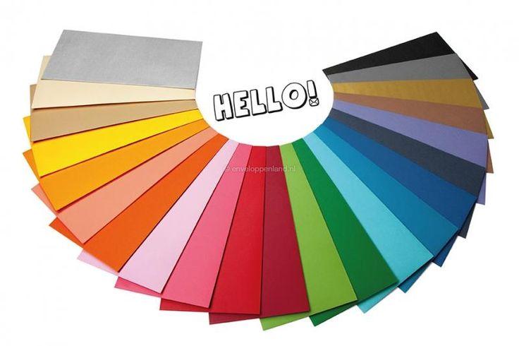 Gekleurde enveloppen papier
