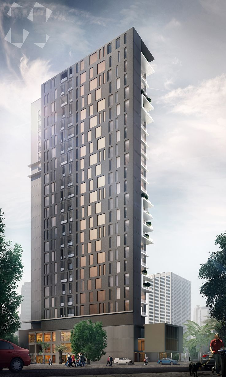 A high rise residential building proposal. Created for Lines Design, Kuwait.