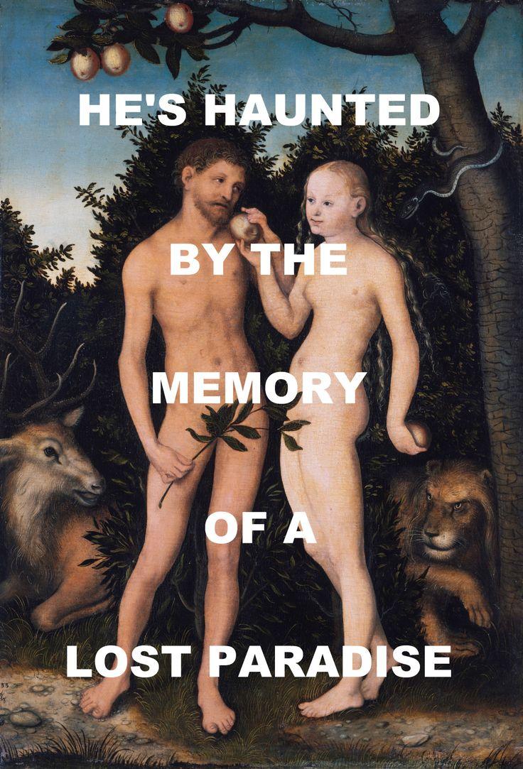 pinkfloydart:  Sorrow - Pink Floyd / Eve Giving Adam The Forbidden Fruit - Lucas Cranach The Elder