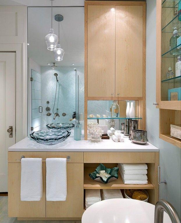 bathroom vanity 7 light wood