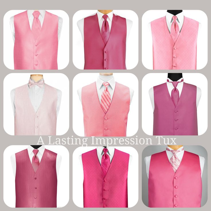 Pink vests have been very popular. They look great with a gray tuxedo! http://www.alastingimpressiontux.com/