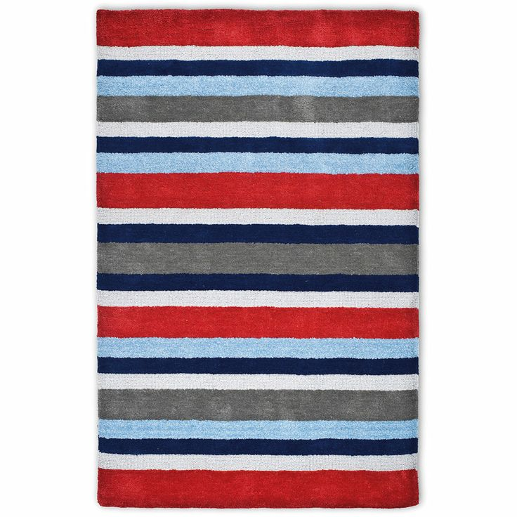 Twickenham Stripe Rug - Huckleberry Cabin Bed Boys\' Bedroom ...