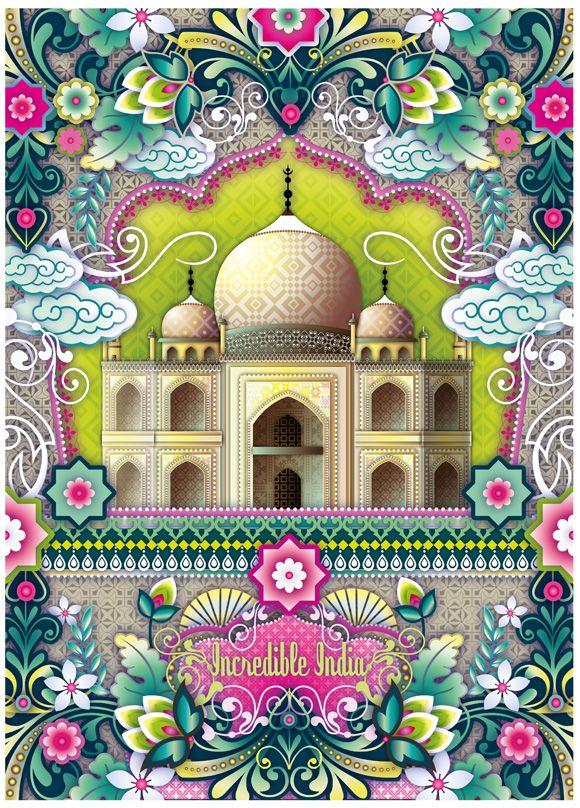 Catalina Estrada - Incredible India ~ Taj Mahal ~ Poster