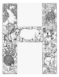 creation alphabet coloring pages - photo#2