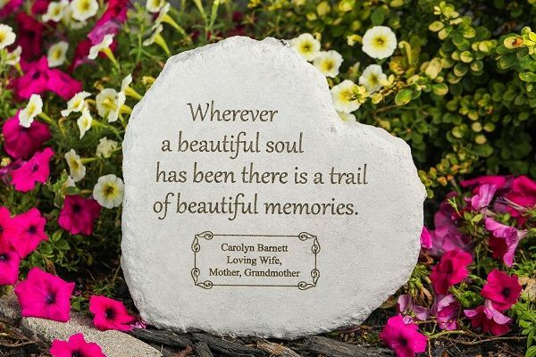 Personalized Memory Stone Wherever A Beautiful Soul Personalized Memorial Stones Memorial Stones Memorial Garden