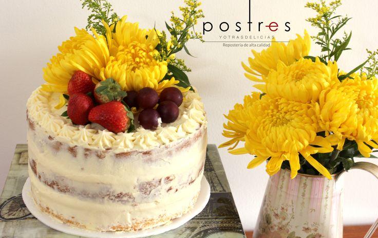 Torta Semi Naked Cake #nakedcake #mesasdedulces postresyotrasdelicias