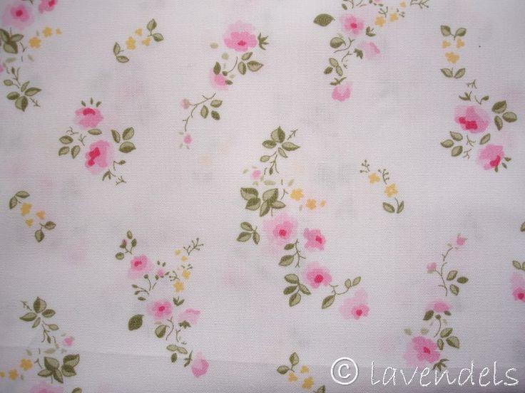 Stoff Rosen - Ökotex ♥ Röschen ♥ Baumwollstoff ♥ rosa gelb Rosen - ein Designerstück von lavendels bei DaWanda