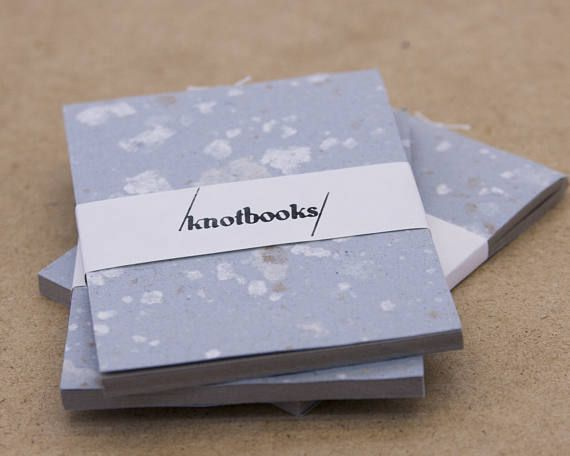 Mini Light Blue Handmade Paper with Speckles Softcover