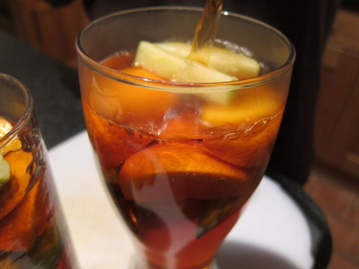 Winter Pimms homemade with normal pimms