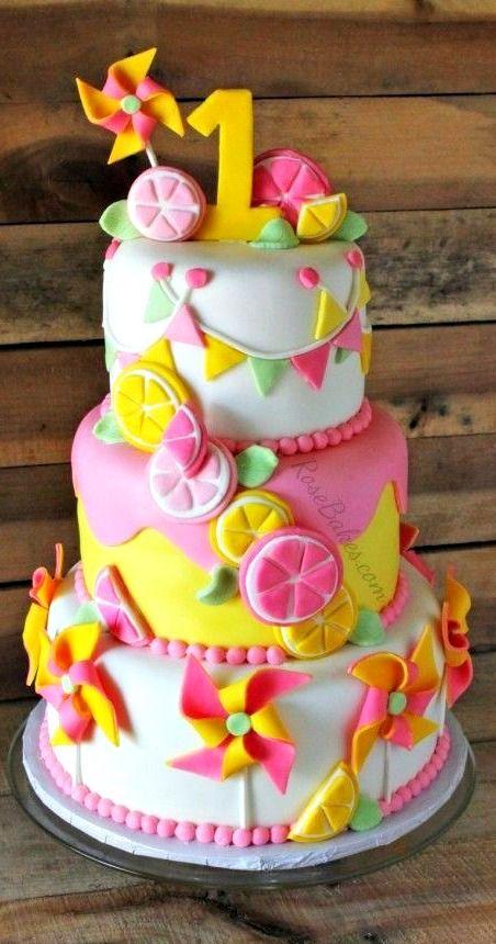Pinwheels & Pink Lemonade Cake