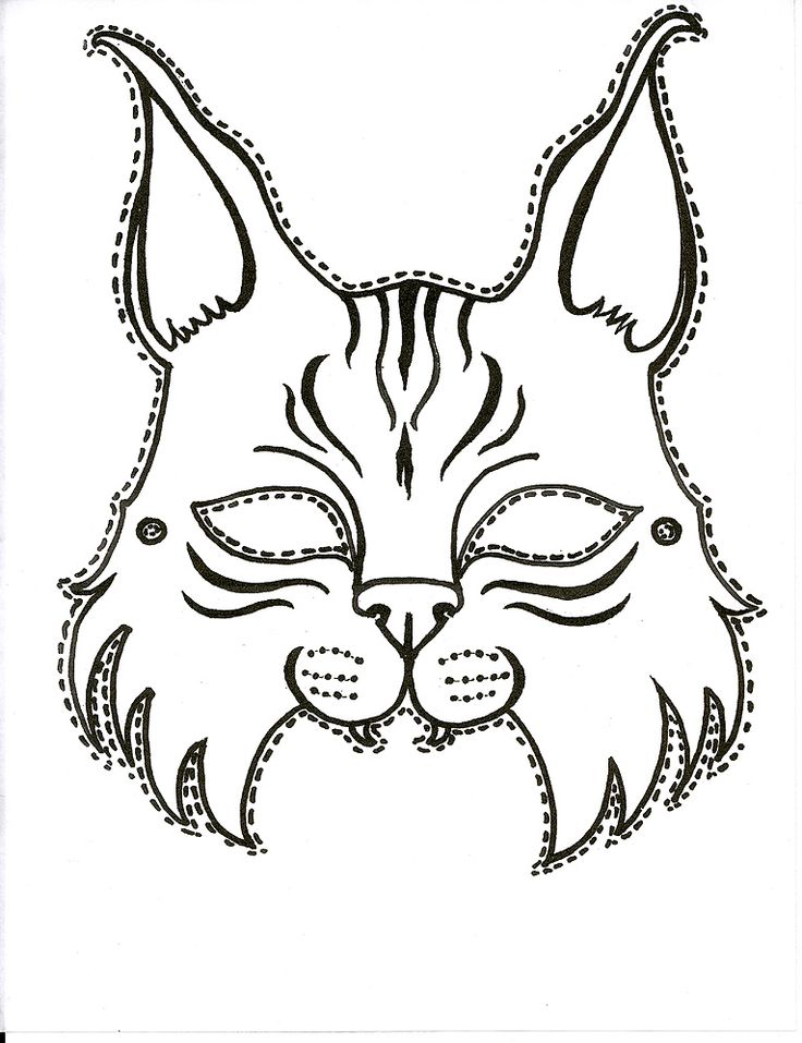 Printable Bobcat mask for the next