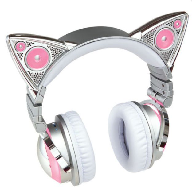 Yes — that's Ariana Grande's new wireless cat ear headphones she's selling at Brookstone… | Ariana Grande Is Now Selling $150 Cat Ear Headphones, So