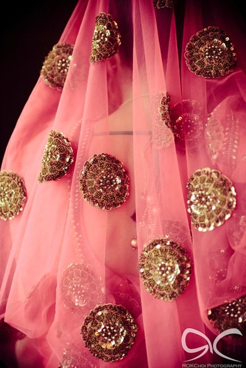Behind the Pink and Gold dupatta