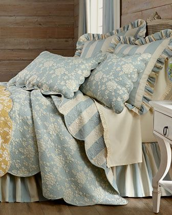 Madeline+Floral/Stripe+Standard+Sham+by+Pine+Cone+Hill+at+Horchow.