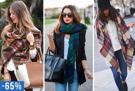 Oversized tartan sjaal nu slechts €13,95   Keuze uit 7 prints