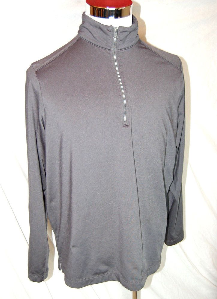 Greg Norman 1/4 Zip PlayDry Pullover Size Large Mens Gray Long Sleeves #GregNorman #pullover