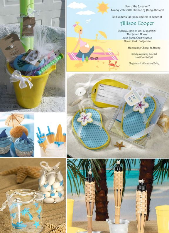 Beach Baby Shower Party Ideas #Baby Shower Guest Book  #Spiral Notebooks, #
