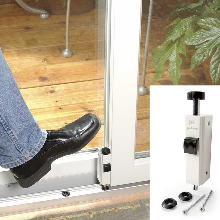 Home security tips like ways to secure your patio doors. #homesecuritysystemsafety