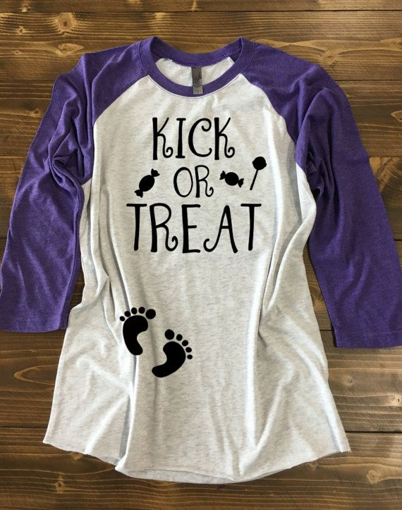 Kick or Treat Pregnancy Halloween Shirt. by strongconfidentYOU