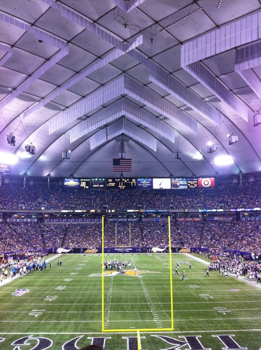 Minnesota Vikings Stadium. End of the dome soon and construction will begin on the new stadium.
