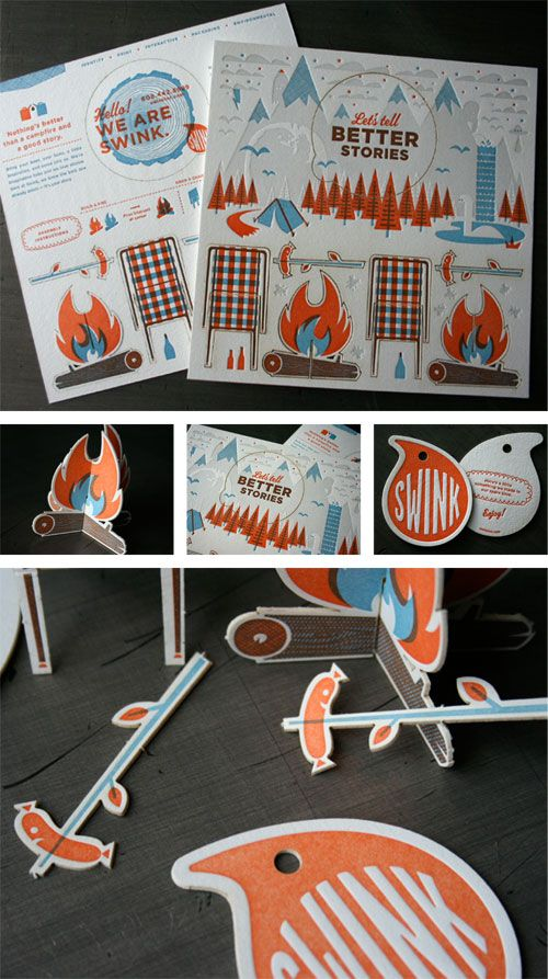 Great graphic design and concept for a direct mail campaign for SWINK.