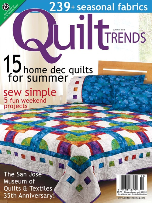 Ambrosia by Christine Stainbrook gets the cover of Quilt Trends Spring 2012. Quilt features fabrics from Ambrosia by Jinny Beyer.Summer 2012, Quilt Ideas, 2012 Issues, Quilt Trends, Awesome Quilt, Trends Summer, Jinny Beyer, Quilt Jinny, Summer Trends