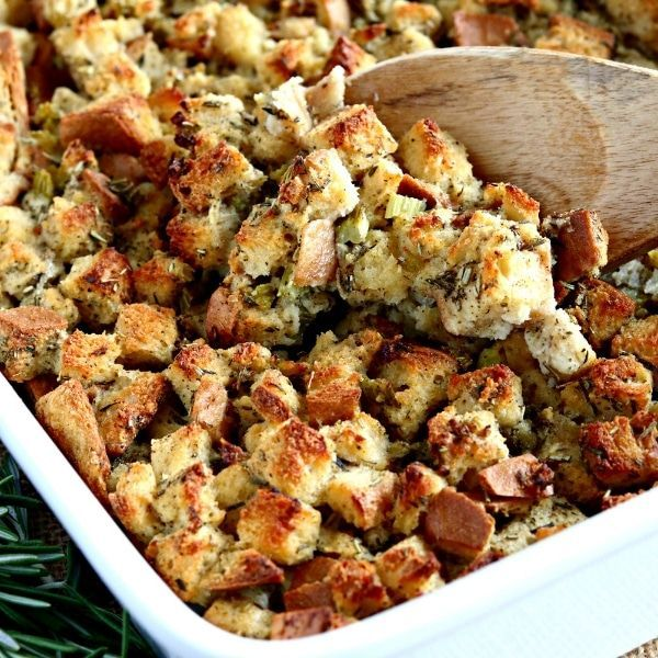 This Is An Easy And Delicious Savory Gluten Free Stuffing Recipe This Classic Stuffing Reci In 2020 Gluten Free Stuffing Gluten Free Stuffing Recipes Stuffing Recipes