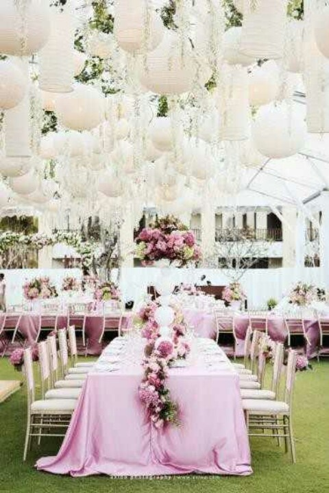 Outdoor canopy or tent wedding! GORG!!!! :)